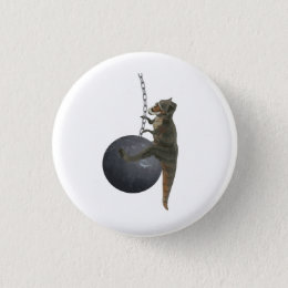 T-Rex Dinosaur Wrecking Ball Button