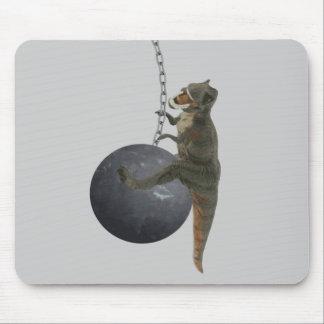 T-Rex Dinosaur Wrecking Ball Mouse Pad