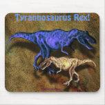 T-Rex Dinosaurs & Leather-effect Mousepad