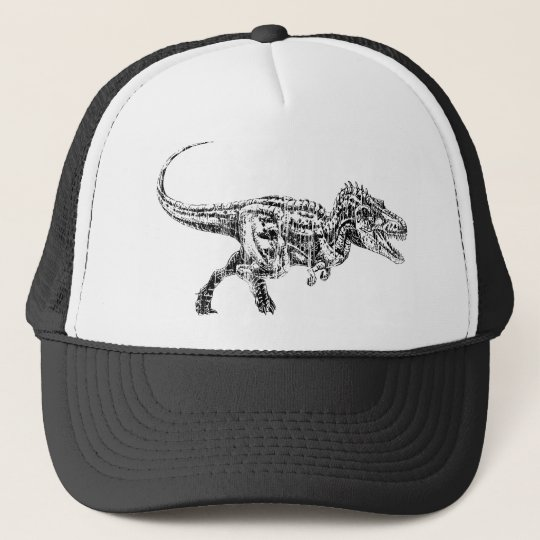 T Rex Distressed Trucker Hat