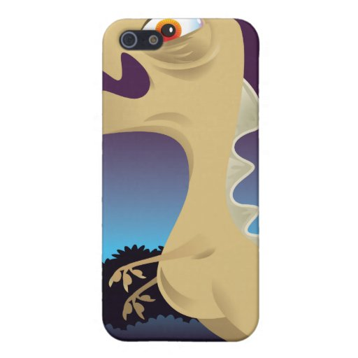 T-Rex divertido y volcán iPhone 5 Carcasas