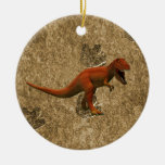 T Rex Double-Sided Ceramic Round Christmas Ornament