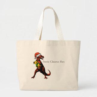T-Rex dressed as Santa Claus: A Santa Claurus Rex… Large Tote Bag
