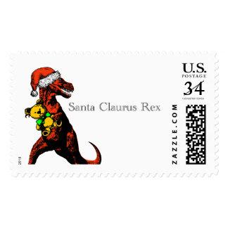 T-Rex dressed as Santa Claus: A Santa Claurus Rex… Stamp