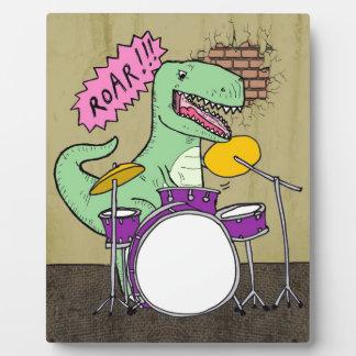 T Rex Drums Plaque