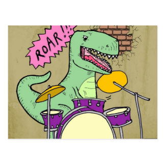 T Rex Drums Postcard
