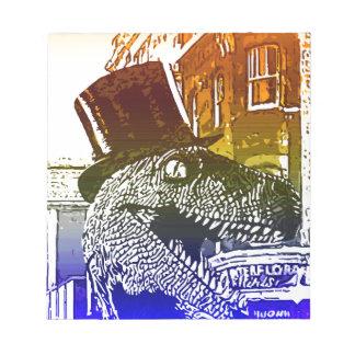 T-Rex en un tophat Bloc