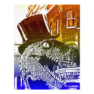 T-Rex en un tophat Plantillas De Membrete