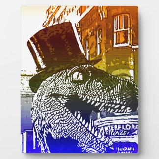 T-Rex en un tophat Placas Para Mostrar