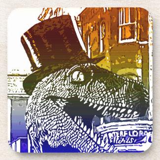 T-Rex en un tophat Posavasos De Bebida