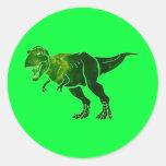 T-Rex Etiquetas Redondas