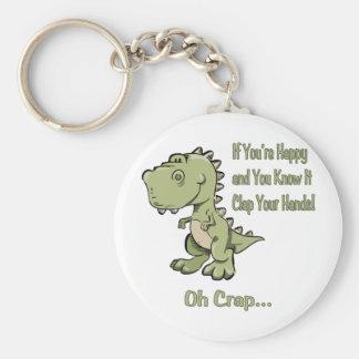T-Rex feliz Llavero Personalizado