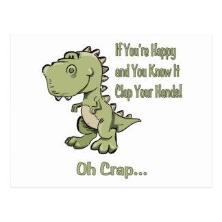 T-Rex feliz Postal