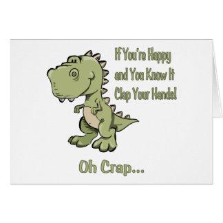 T-Rex feliz Felicitación