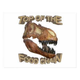 T-rex / Food Chain Postcard