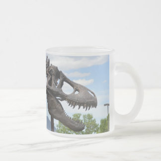 T-Rex Frosted Glass Coffee Mug