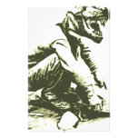 T-Rex Gold Miner Custom Stationery
