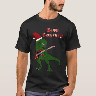T-Rex Guitar Christmas Shirt