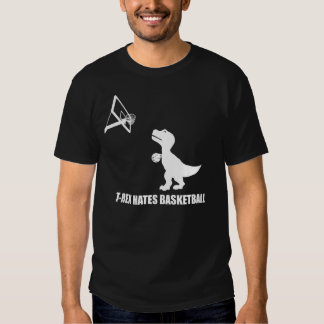T-Rex Hates Basketball Dark T-Shirt