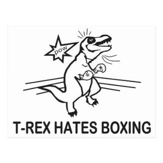T Rex Hates Boxing Postcard