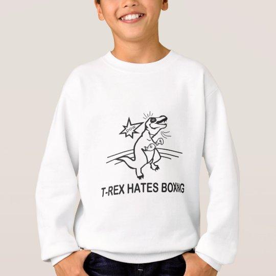 96816799e T Rex Hates Boxing Sweatshirt   Zazzle.com