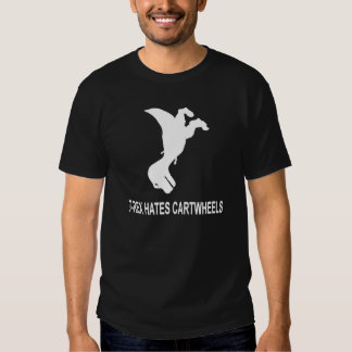 T-Rex Hates Cartwheels Dark T-Shirt