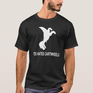 T-Rex Hates Cartwheels Dark T-Shirt