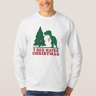 t-rex hates christmas t shirt
