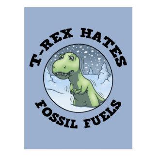 T-Rex Hates Fossils Postcard