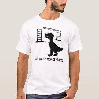 T-Rex Hates Monkey Bars Light T-Shirt