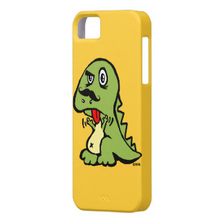T-rex hates mustache iPhone 5 covers