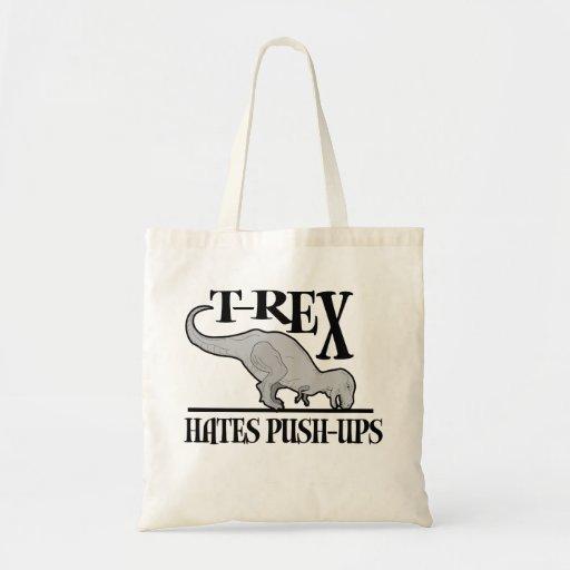 T-Rex Hates Push-Ups $14.95 Canvas Bag