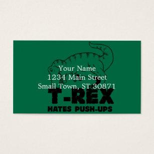 T rex business cards templates zazzle t rex hates push ups business card accmission Choice Image