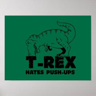 t rex hates push-ups poster