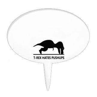 t-rex hates pushups.ai cake pick