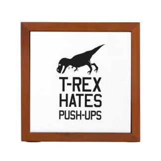 T-Rex Hates Pushups Desk Organizers