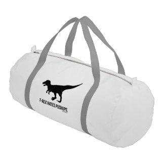 T-rex hates pushups duffle bag