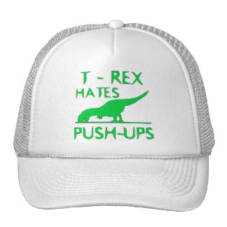 T REX HATES PUSHUPS Funny Dino Design Trucker Hat