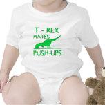 T REX HATES PUSHUPS Funny Dino Design Baby Creeper