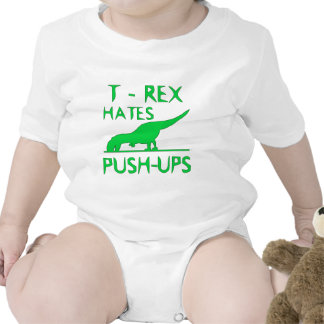 T REX HATES PUSHUPS Funny Dino Design Baby Creeper