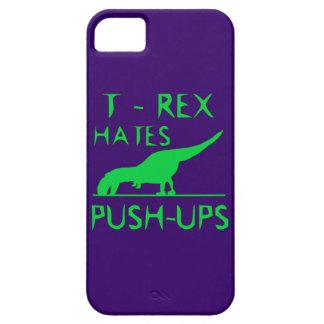T REX HATES PUSHUPS Funny Dino Design iPhone 5 Cases