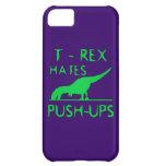 T REX HATES PUSHUPS Funny Dino Design iPhone 5C Cases