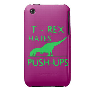 T REX HATES PUSHUPS Funny Dino Design Case-Mate iPhone 3 Case
