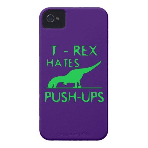 T REX HATES PUSHUPS Funny Dino Design Case-Mate iPhone 4 Cases