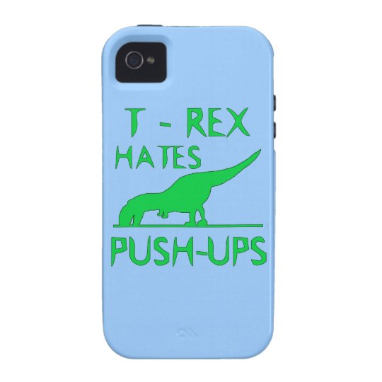T REX HATES PUSHUPS Funny Dino Design iPhone 4 Cover