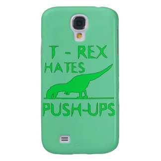 T REX HATES PUSHUPS Funny Dino Design Samsung Galaxy S4 Case