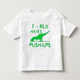 T REX HATES PUSHUPS Funny Dino Design Toddler T-shirt