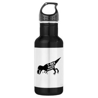 T-Rex Hates Pushups 18oz Water Bottle