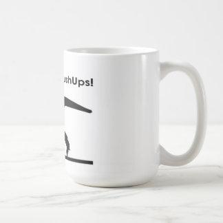 T-Rex Hates Pushups Push ups Humor Funny Classic White Coffee Mug