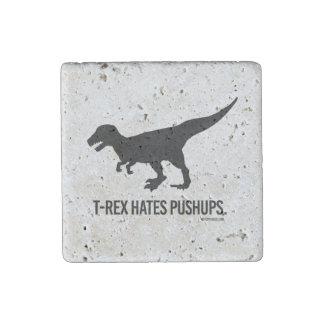 T-rex hates pushups stone magnet